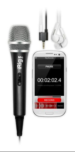 Microfono Condenser Portatil Ik Multimedia Irig Mic Ios Y