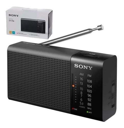 Radio Am Fm Portatil Sony Analogica P36 Correa Pilas