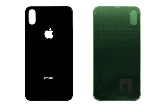 Tapa Trasera Repuesto iPhone X 10 Xs Negro Vidrio Pegamento