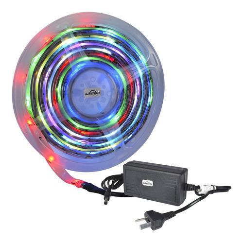 Tira Led 5050 Rollo Rgb 12v Exterior Colores 5mts 300 Luces
