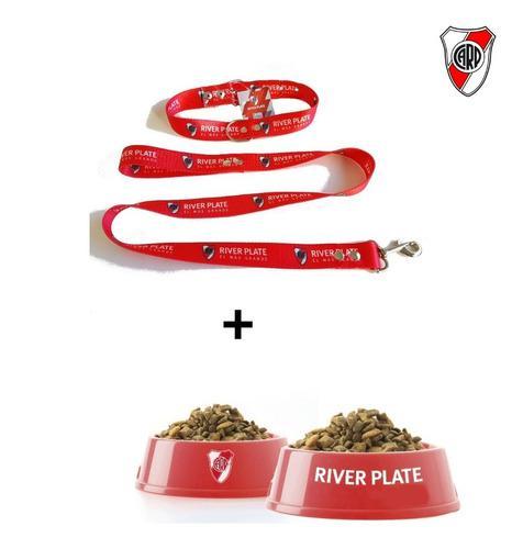 Correa+collar+comedero River Perros L Razas Grandes