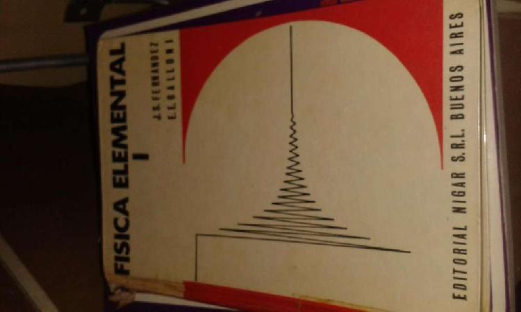 Libro Fisica Elemental 1 y 2 precio por los dos