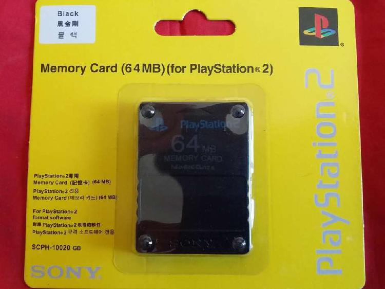 Memory Card 64Mb Memoria Ps2 Play 2 PlayStation 2 ACEPTO