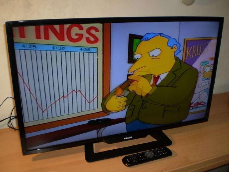 "TV LED LCD PHILIPS 32"" FULL HD CONTROL REMOTO TDA POCO USO"
