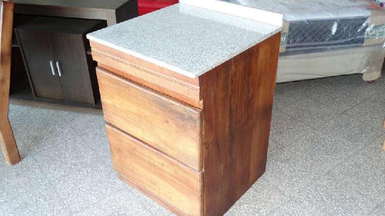 Bajo Mesada de algarrobo 60 cm con mesada de granito