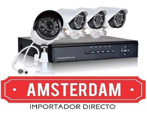 KIT CAMARAS DE SEGURIDAD COMPLETO IP HD VIDEOMAX 4 CAMARAS