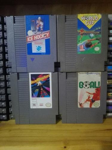 Lote Juegos Nintendo Nes Originales - World Cup Goal Hockey