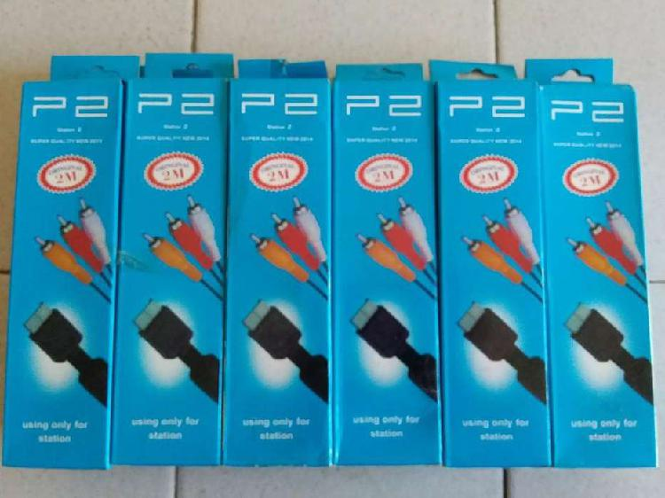 Cable Rca Audio Y Video Play Ps1 Ps2 Ps3 2mts Calidad 480p