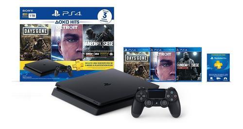 Consola Playstation 4 Hits Bundle 19 Ps4 Slim 1tb