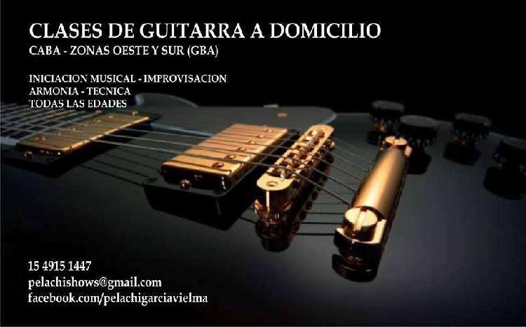 CLASES DE PARTICULARES GUITARRA A DOMICILIO RAMOS HAEDO SAN