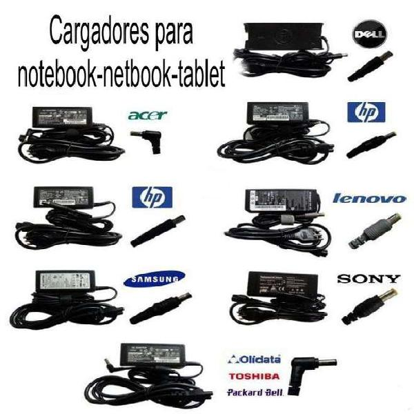 Cargadores para notebook-netbook-tablet. originales y