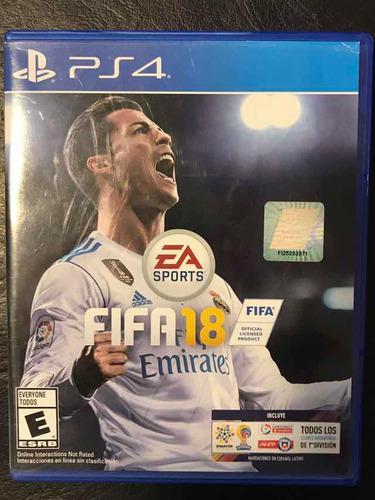 Juego Fifa 18 Ps4 Fisico Playstation 4 - Español - Original