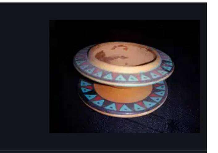 Porta vela peruano usado Adorno