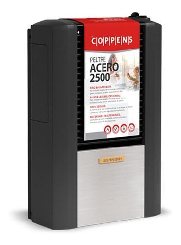 Calefactor Coppens 2500 Tb Derecho Peltre Acero Multigas