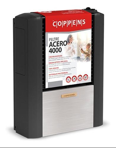 Calefactor Coppens 4000 Tb Izquierdo Peltre Acero Multigas