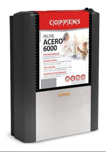 Calefactor Coppens 6000 Tb Izquierdo Peltre Acero Multigas