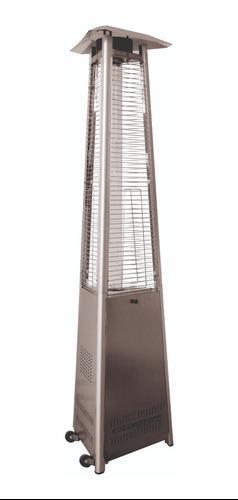 Calefactor De Exterior Piramide Lusqtoff 10000 Kcal Acero