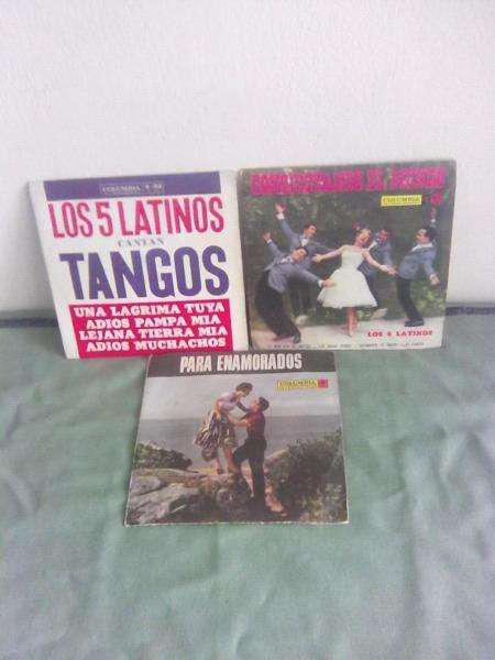 Discos vinilos simples los 5 latinos