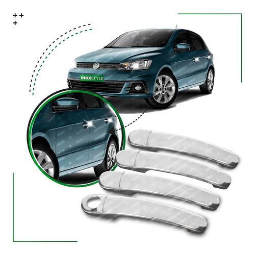 Kit 4 Cubre Manijas Cromadas Para Vw Volkswagen Gol Trend