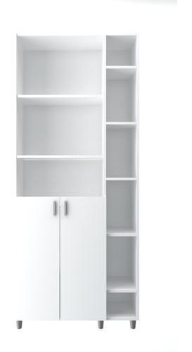 Biblioteca Modular 9 Estantes C/ptas Melamina Oficina/hogar