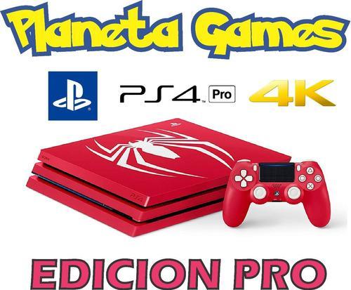 Playstation Ps4 Pro Edicion 1 Tb Edicion Limitada Spider Man