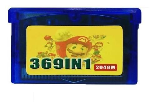 Cartucho 369 En 1 Game Boy Advance