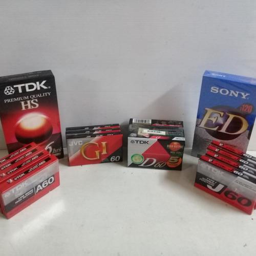 Cassetes De Audio Y Video En Envoltorio (microcentro)