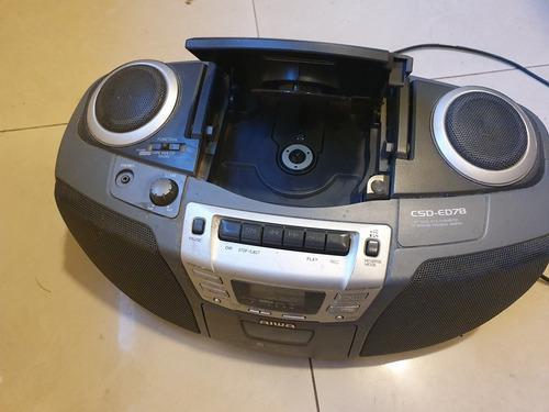Equipo De Musica Aiwa Cd, Cassette, Radio, Portatil