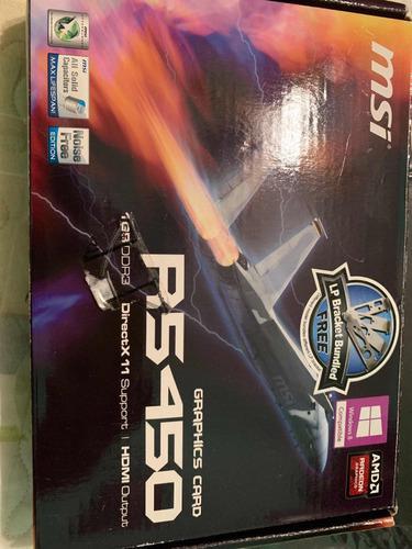 Placa De Video Radeon Msi R5450 Ddr3 1gb