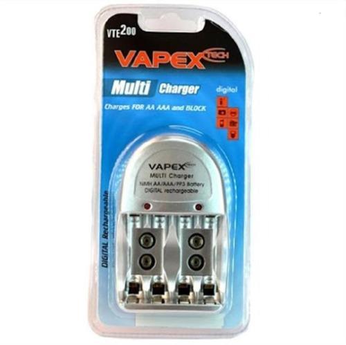 Vte 200 Cargador Bateria 9v 4 Pila Recargable + Pilas Aaa