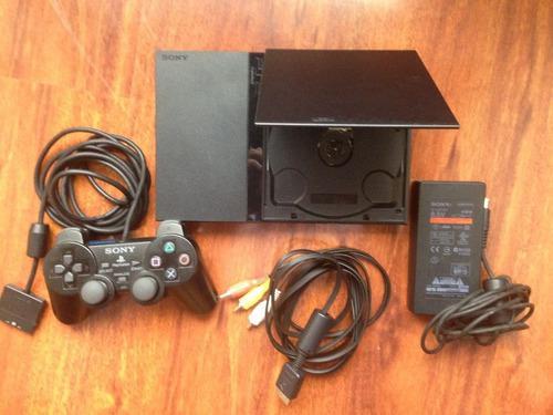 Play Station 2 Slim Con Juegos Y 2 Joystick