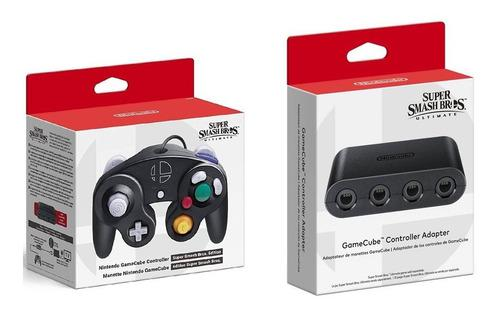 Joystick + Adaptador Gamecube Super Smash Bros Switch