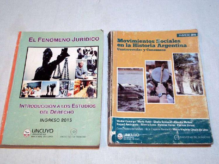 2 libros de ingreso UNC (2015)