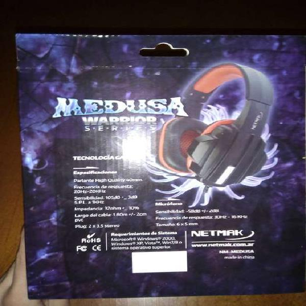 Auriculares Gamer, Medusa con control de volumen
