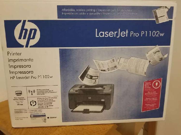 Impresora Hp LaserJet P1102w Impecable Con Toner Original