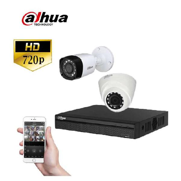 OFERTA IMPERDIBLE KIT DAHUA 2 CÁMARAS HD 720P + DVR