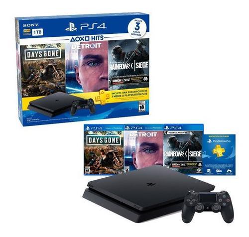 Consola Playstation 4 1tb Ps4 Hits 5 + Juegos + Dualshock 4