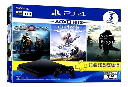 Playstation 4 Ps4 1tb Nueva + 3 Juegos + Envio Gratis