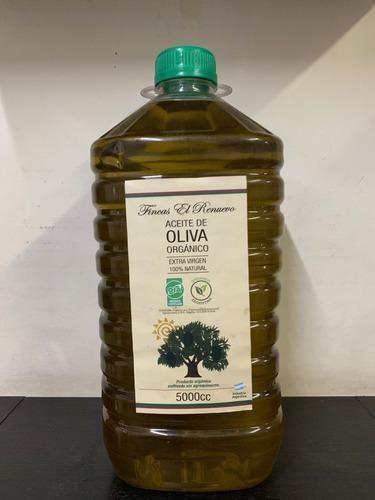 Aceite De Oliva Orgánico Certificado Finca El Renuevo X 5