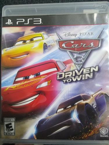 Cars 3 Juego Original Fisico Para Ps3 En Español -novedad-