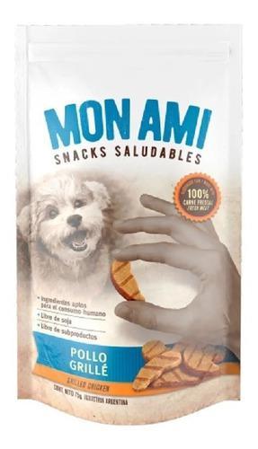Golosina Snack Perros Mon Ami Pollo Grille X 3 Unidades 75gr