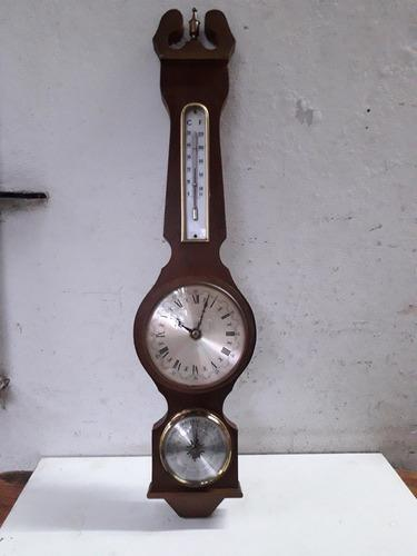 Antiguo Reloj Barómetro Aleman