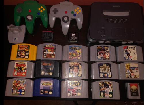 Consola Nintendo 64 + 2 Joysticks + 14 Juegos + Accesorios