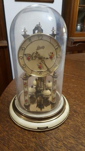 Reloj Antiguo Schatz Con Cúpula Cristal. Origen Alemán.