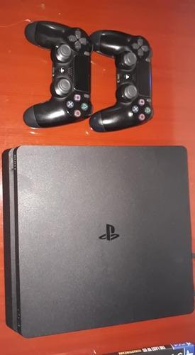 Ps4 1tb Slim 2 Joystick 2 Juegos Fisicos Y 1 Digital