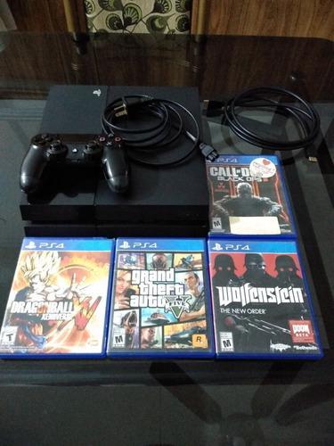 Sony Ps4 500gb + 1 Joystick + 4 Juegos Fisicos!!