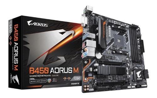 Mother Gigabyte B450 Aorus M Am4 Rgb Fusion 4k M.2 U3.1