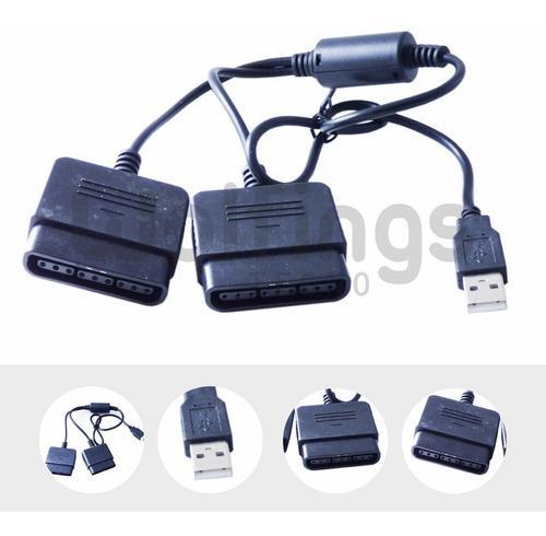 Cable Adaptador Doble Para Joystick Sony Ps2 A Usb - Pc