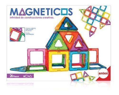 Magneticos Set Contrucciones Cretivas 16 Piezas Antex