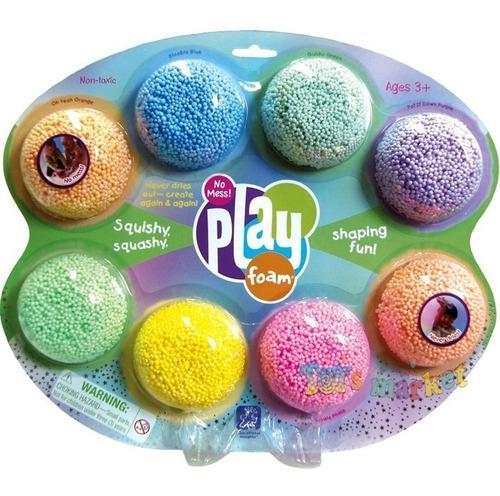 Play Foam X 8 Unidades Masa Pelotitas No Se Pega Ni Se Seca